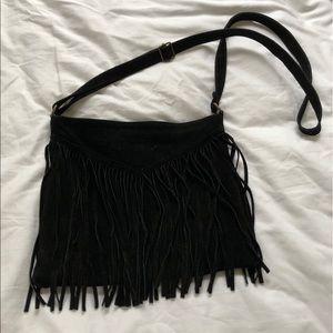 Brandy Melville Suede Fringe Bag